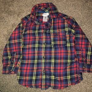 Carter's 18 month flannel button up shirt
